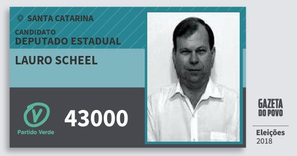 Santinho Lauro Scheel 43000 (PV) Deputado Estadual | Santa Catarina | Eleições 2018
