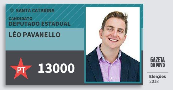 Santinho Léo Pavanello 13000 (PT) Deputado Estadual | Santa Catarina | Eleições 2018