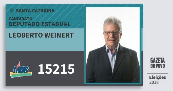 Santinho Leoberto Weinert 15215 (MDB) Deputado Estadual | Santa Catarina | Eleições 2018