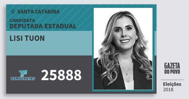 Santinho Lisi Tuon 25888 (DEM) Deputada Estadual | Santa Catarina | Eleições 2018