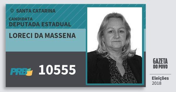 Santinho Loreci da Massena 10555 (PRB) Deputada Estadual   Santa Catarina   Eleições 2018