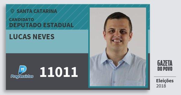 Santinho Lucas Neves 11011 (PP) Deputado Estadual | Santa Catarina | Eleições 2018