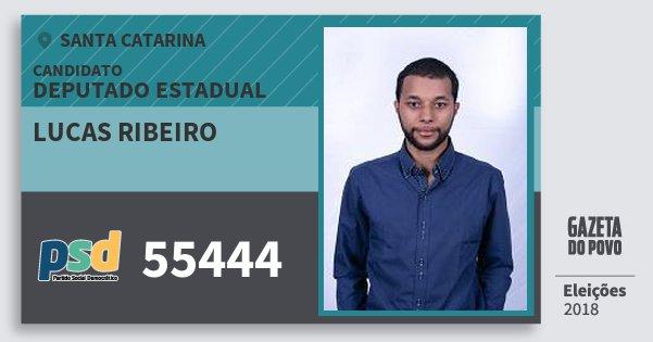 Santinho Lucas Ribeiro 55444 (PSD) Deputado Estadual | Santa Catarina | Eleições 2018