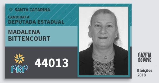 Santinho Madalena Bittencourt 44013 (PRP) Deputada Estadual | Santa Catarina | Eleições 2018