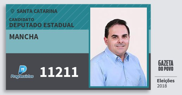 Santinho Mancha 11211 (PP) Deputado Estadual | Santa Catarina | Eleições 2018