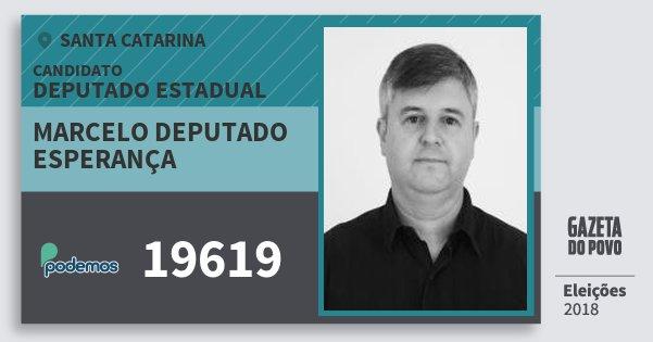 Santinho Marcelo Deputado Esperança 19619 (PODE) Deputado Estadual | Santa Catarina | Eleições 2018
