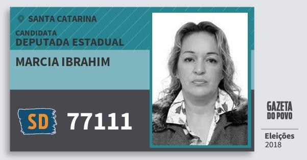 Santinho Marcia Ibrahim 77111 (SOLIDARIEDADE) Deputada Estadual | Santa Catarina | Eleições 2018