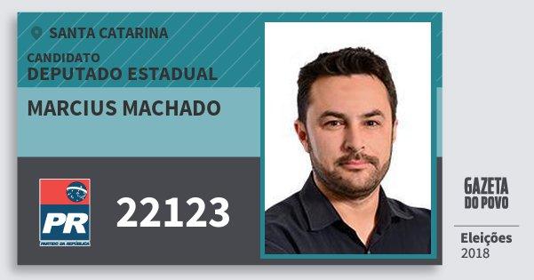 Santinho Marcius Machado 22123 (PR) Deputado Estadual | Santa Catarina | Eleições 2018