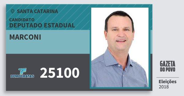 Santinho Marconi 25100 (DEM) Deputado Estadual | Santa Catarina | Eleições 2018
