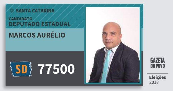 Santinho Marcos Aurélio 77500 (SOLIDARIEDADE) Deputado Estadual | Santa Catarina | Eleições 2018