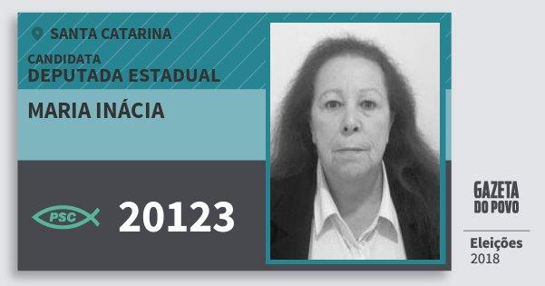 Santinho Maria Inácia 20123 (PSC) Deputada Estadual   Santa Catarina   Eleições 2018