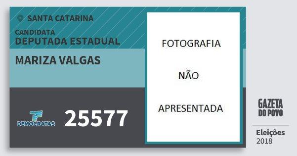 Santinho Mariza Valgas 25577 (DEM) Deputada Estadual | Santa Catarina | Eleições 2018