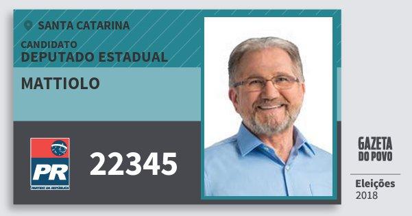 Santinho Mattiolo 22345 (PR) Deputado Estadual | Santa Catarina | Eleições 2018