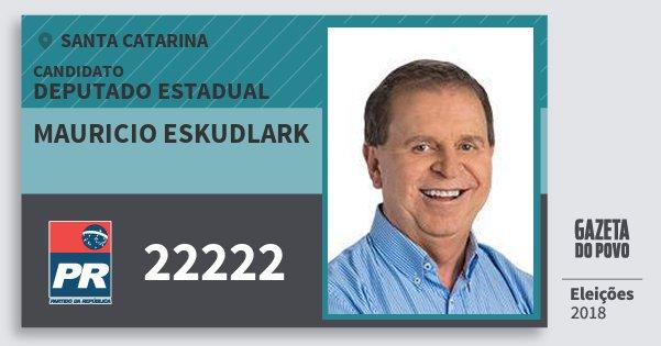 Santinho Mauricio Eskudlark 22222 (PR) Deputado Estadual | Santa Catarina | Eleições 2018