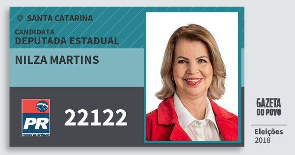 Santinho Nilza Martins 22122 (PR) Deputada Estadual | Santa Catarina | Eleições 2018