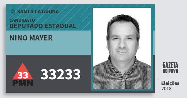 Santinho Nino Mayer 33233 (PMN) Deputado Estadual | Santa Catarina | Eleições 2018