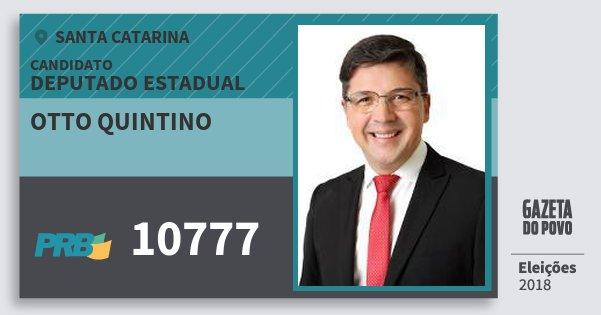 Santinho Otto Quintino 10777 (PRB) Deputado Estadual | Santa Catarina | Eleições 2018
