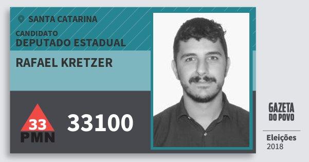 Santinho Rafael Kretzer 33100 (PMN) Deputado Estadual | Santa Catarina | Eleições 2018