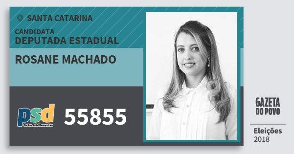 Santinho Rosane Machado 55855 (PSD) Deputada Estadual | Santa Catarina | Eleições 2018