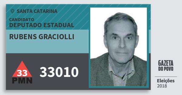 Santinho Rubens Graciolli 33010 (PMN) Deputado Estadual | Santa Catarina | Eleições 2018