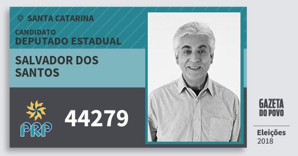 Santinho Salvador dos Santos 44279 (PRP) Deputado Estadual   Santa Catarina   Eleições 2018