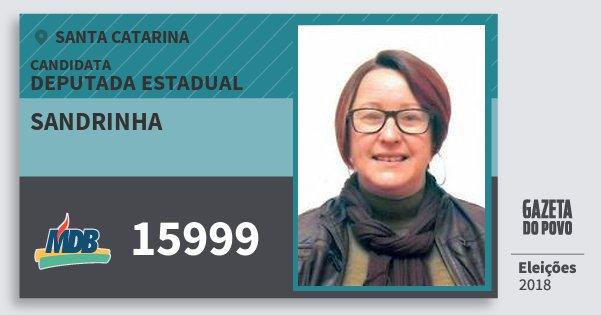 Santinho Sandrinha 15999 (MDB) Deputada Estadual | Santa Catarina | Eleições 2018