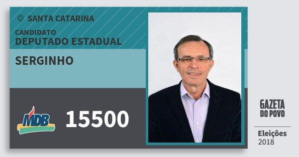 Santinho Serginho 15500 (MDB) Deputado Estadual | Santa Catarina | Eleições 2018