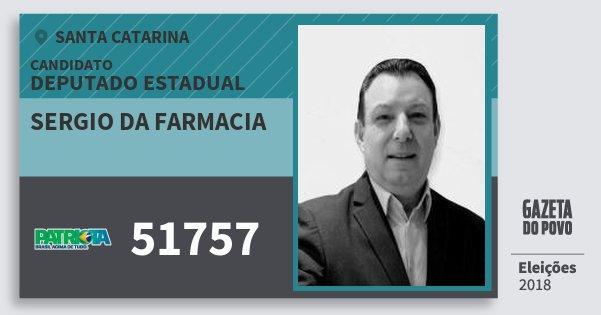 Santinho Sergio da Farmacia 51757 (PATRI) Deputado Estadual | Santa Catarina | Eleições 2018