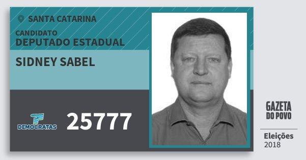 Santinho Sidney Sabel 25777 (DEM) Deputado Estadual   Santa Catarina   Eleições 2018