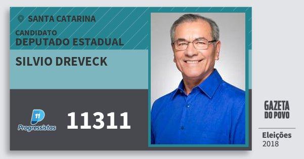 Santinho Silvio Dreveck 11311 (PP) Deputado Estadual | Santa Catarina | Eleições 2018
