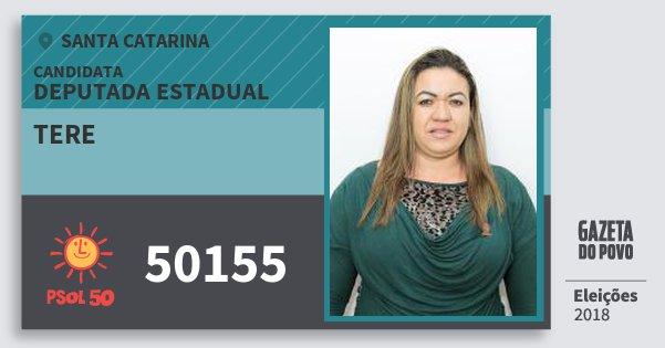 Santinho Tere 50155 (PSOL) Deputada Estadual | Santa Catarina | Eleições 2018