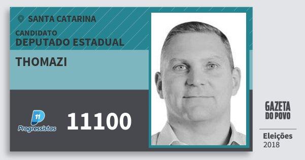Santinho Thomazi 11100 (PP) Deputado Estadual | Santa Catarina | Eleições 2018
