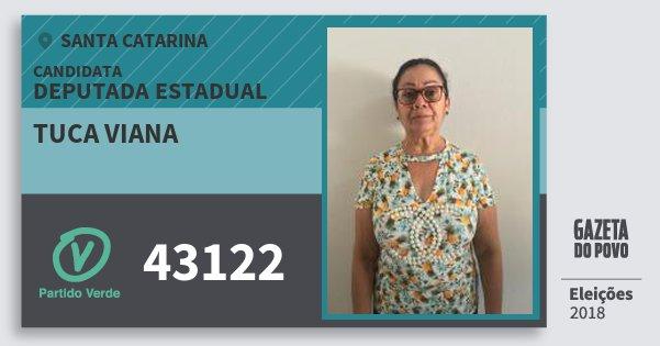 Santinho Tuca Viana 43122 (PV) Deputada Estadual | Santa Catarina | Eleições 2018