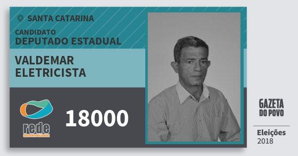Santinho Valdemar Eletricista 18000 (REDE) Deputado Estadual | Santa Catarina | Eleições 2018