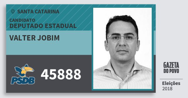 Santinho Valter Jobim 45888 (PSDB) Deputado Estadual | Santa Catarina | Eleições 2018