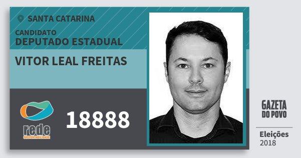 Santinho Vitor Leal Freitas 18888 (REDE) Deputado Estadual | Santa Catarina | Eleições 2018