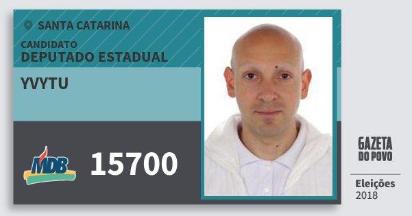 Santinho Yvytu 15700 (MDB) Deputado Estadual | Santa Catarina | Eleições 2018