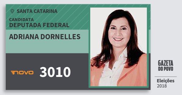 Santinho Adriana Dornelles 3010 (NOVO) Deputada Federal | Santa Catarina | Eleições 2018
