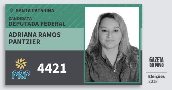 Santinho Adriana Ramos Pantzier 4421 (PRP) Deputada Federal   Santa Catarina   Eleições 2018