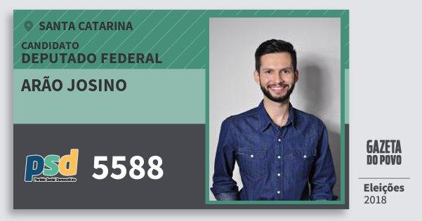 Santinho Arão Josino 5588 (PSD) Deputado Federal   Santa Catarina   Eleições 2018