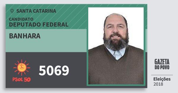 Santinho Banhara 5069 (PSOL) Deputado Federal   Santa Catarina   Eleições 2018