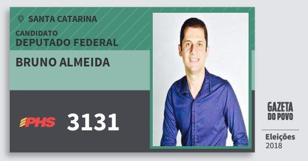 Santinho Bruno Almeida 3131 (PHS) Deputado Federal | Santa Catarina | Eleições 2018