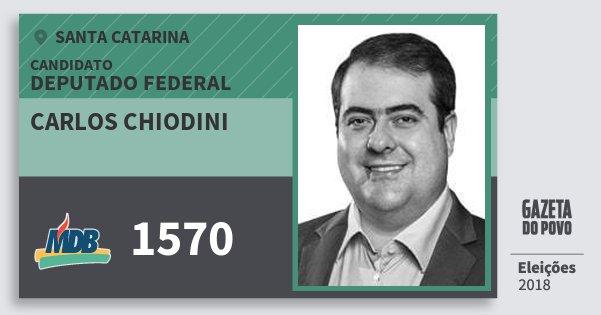Santinho Carlos Chiodini 1570 (MDB) Deputado Federal | Santa Catarina | Eleições 2018