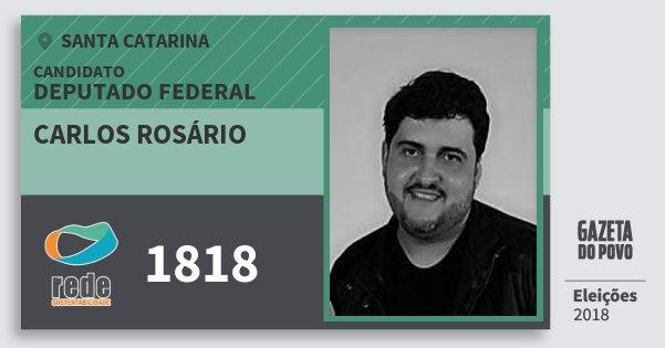 Santinho Carlos Rosário 1818 (REDE) Deputado Federal | Santa Catarina | Eleições 2018
