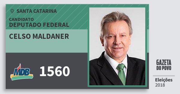 Santinho Celso Maldaner 1560 (MDB) Deputado Federal | Santa Catarina | Eleições 2018