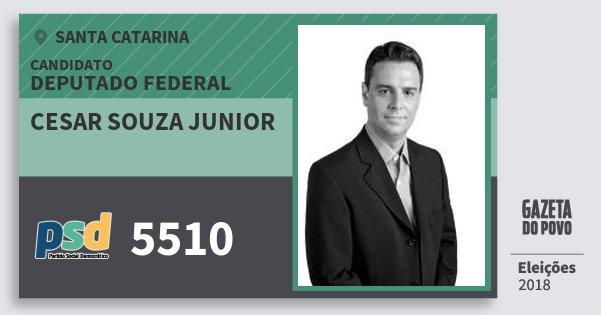 Santinho Cesar Souza Junior 5510 (PSD) Deputado Federal | Santa Catarina | Eleições 2018