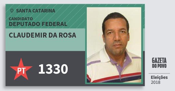 Santinho Claudemir da Rosa 1330 (PT) Deputado Federal | Santa Catarina | Eleições 2018