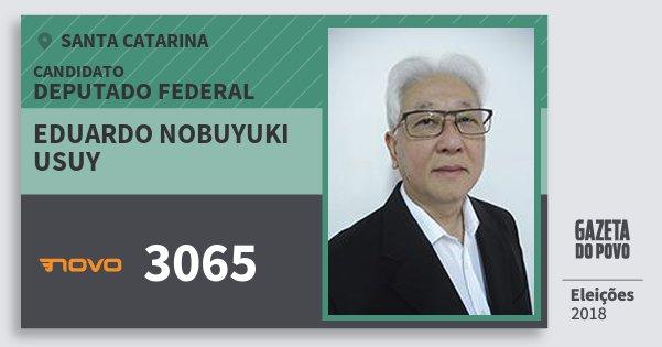 Santinho Eduardo Nobuyuki Usuy 3065 (NOVO) Deputado Federal | Santa Catarina | Eleições 2018