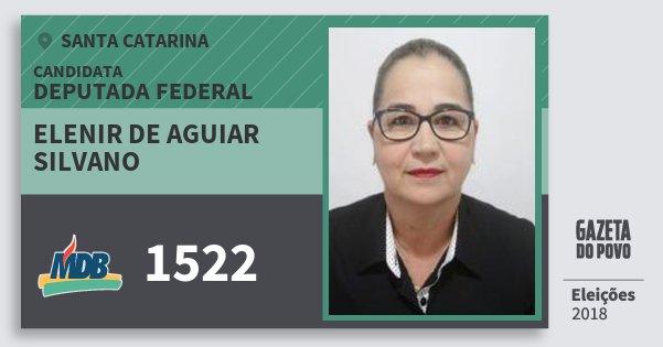 Santinho Elenir de Aguiar Silvano 1522 (MDB) Deputada Federal | Santa Catarina | Eleições 2018
