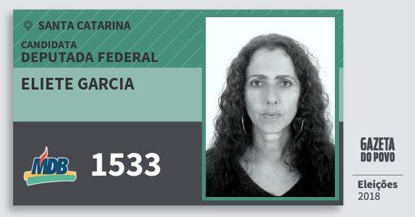 Santinho Eliete Garcia 1533 (MDB) Deputada Federal | Santa Catarina | Eleições 2018